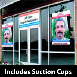 "Window Posters  with Suction Cups  (18"" x 24"")"
