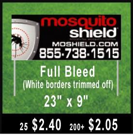 Mosquito Shield Small Black Trimmed