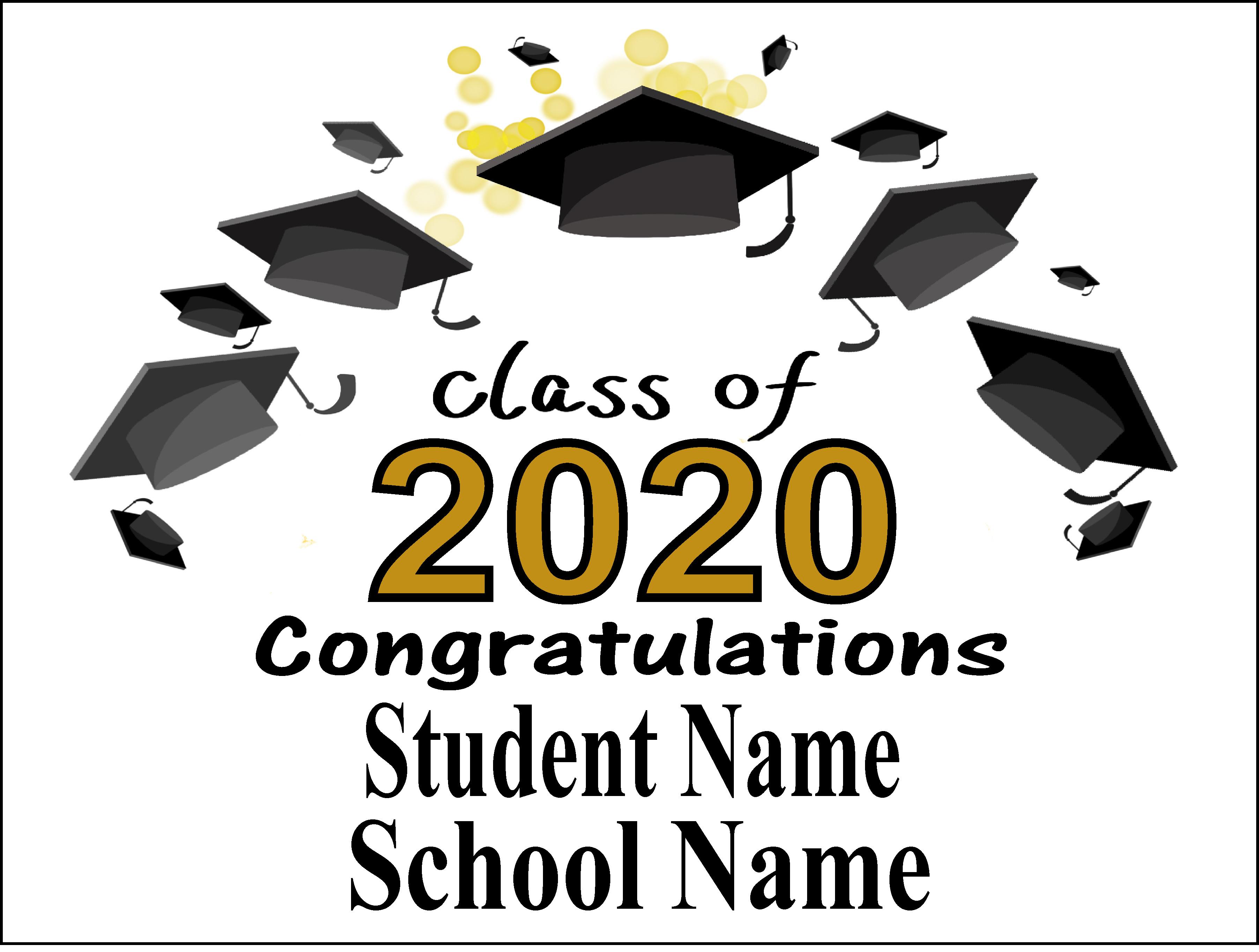 Individual Graduation  Yard Sign 4   Click Here