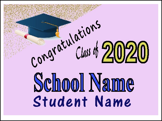Individual Graduation  Yard Sign 3    Click Here