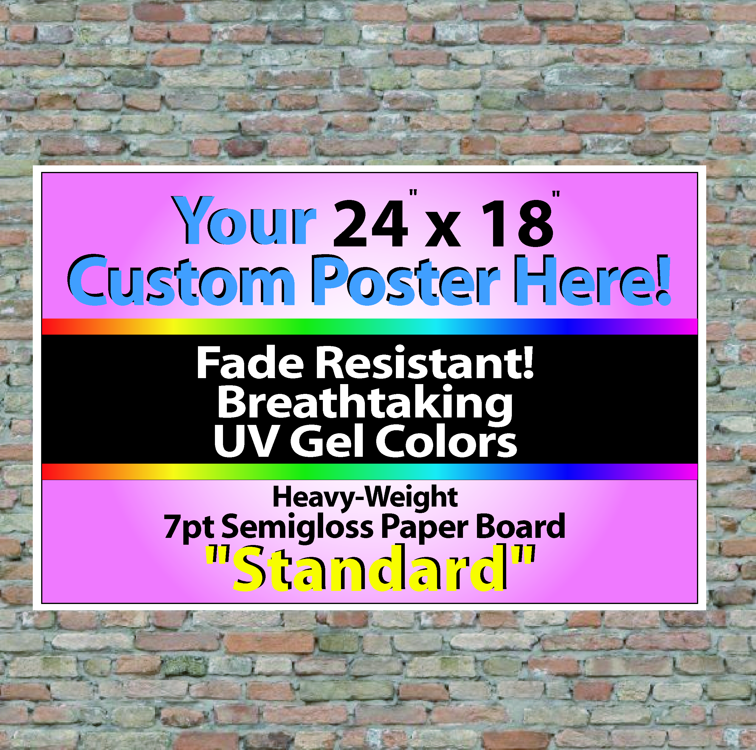 "24"" x 18"" Wall Posters"