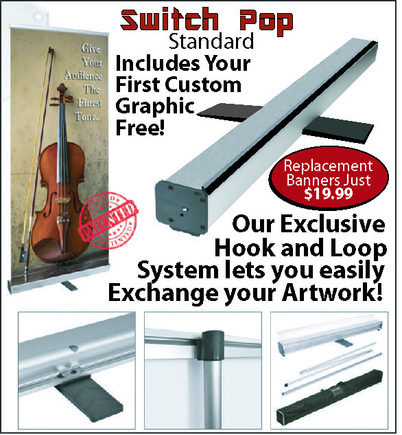 Replaceable Pull Up Banners